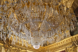 Huge chandelier.