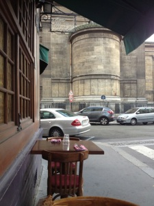 Street view from outside at Chez Michel
