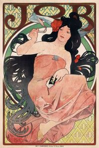 Mucha Job poster, one of many he did for Job.