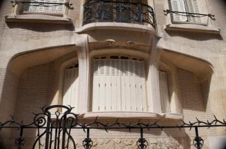 Window of small Guimard building