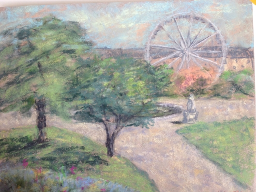 Painting I did today at Les  Tuileries.